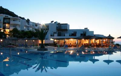 Semiramis Village Hotel in L. Hersonissos, Crete Greece. It features an outdoor pool and sun terrace. Rooms for rent without intermediaries.